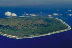 Mangaia aerial view